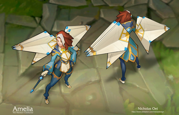 League of Legends Fan Made: New Champions created with Hextech and Paper technology 3