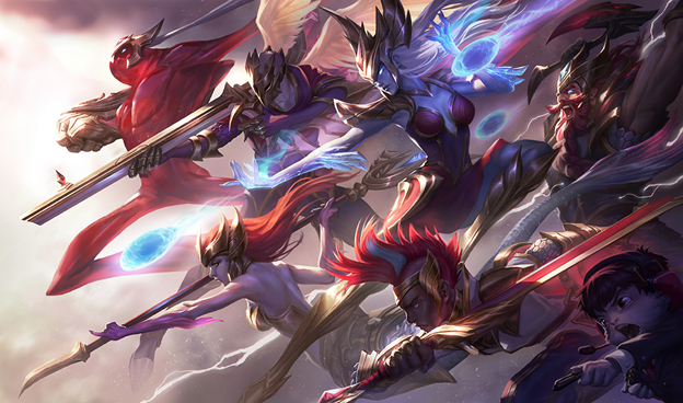 League of Legends Fun: With IG Kai'Sa, the champions skins are all League of Legends' new gunners 4