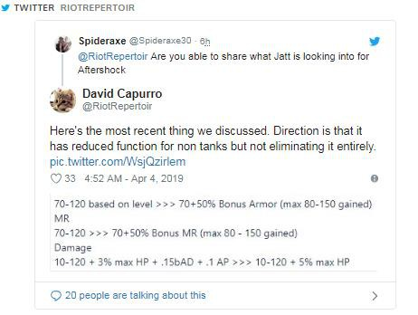 """Riot Games will modify Aftershock Pearl - Farewell """"Lissandra Tank"""""""