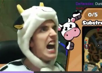 League of Legends Fun: Die laughing at the image Cowsep wear clothes milk cow suit to see MSI 2019 2