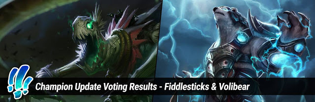 League of Legends: Riot Games publishes voting results, Volibear and Fiddlesticks are the next two generals to remake. 1