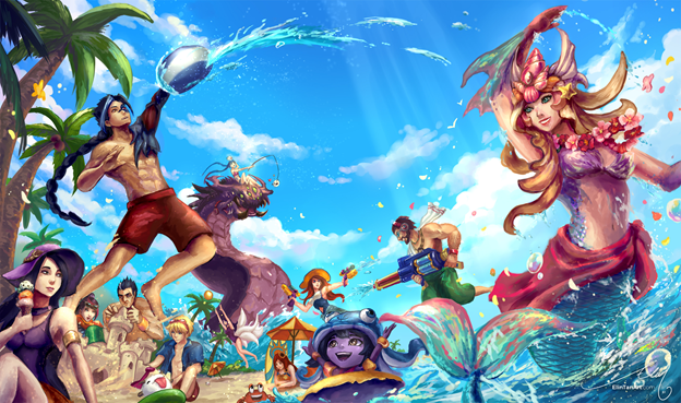 League of Legends Skin: Which champions deserve to have the Skin Pool Party in this summer? 5