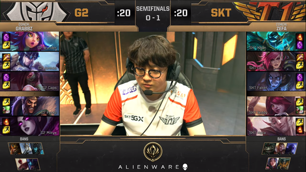 League of Legends: MSI 2019 - SKT failed 2 - 3 G2 bitterly in the day Faker learned that Crush had a lover 4