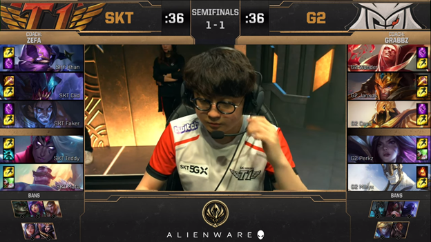 League of Legends: MSI 2019 - SKT failed 2 - 3 G2 bitterly in the day Faker learned that Crush had a lover 6