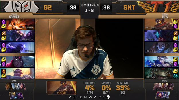 League of Legends: MSI 2019 - SKT failed 2 - 3 G2 bitterly in the day Faker learned that Crush had a lover 8