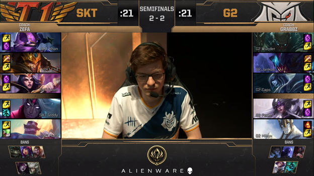 League of Legends: MSI 2019 - SKT failed 2 - 3 G2 bitterly in the day Faker learned that Crush had a lover 10