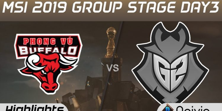 League of Legends: MSI 2019 - Crushing G2, PVB has the first victory at MSI after 3 days of competition 1