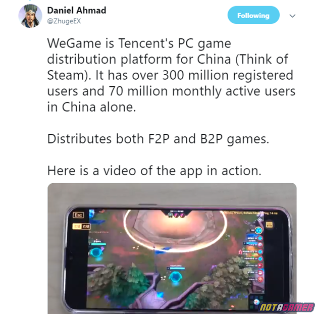 League of Legends: Tencent released an application that allows playing LoL PC on the Mobile 4