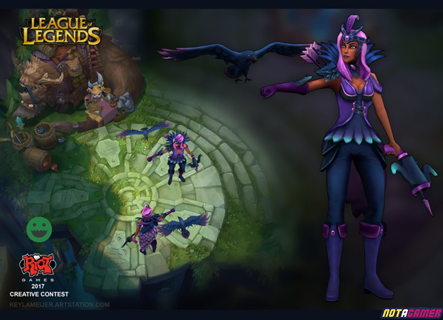 League of Legends: Fanart of the ADC Skin designed by fans 3