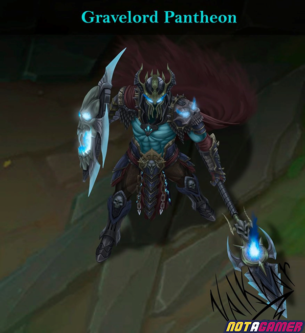 League of Legends: Fanart Skin Gravelord Pantheon is beautiful in every detail 2