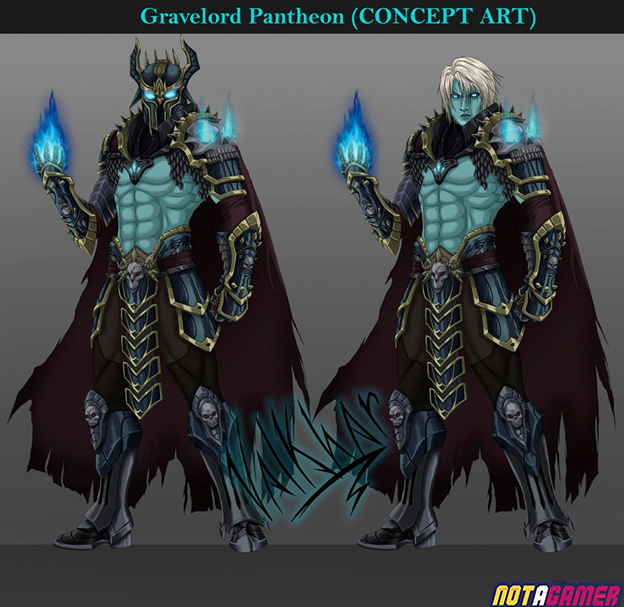 League of Legends: Fanart Skin Gravelord Pantheon is beautiful in every detail 3