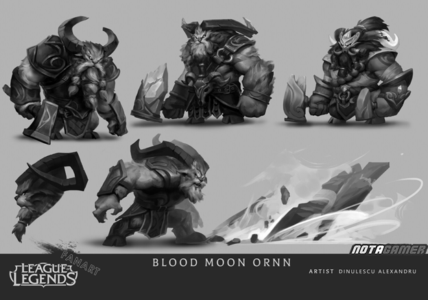 League of Legends: Riot Games must admire Fan's creative abilities with Ornn Blood Moon skin 6