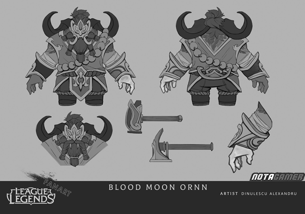 League of Legends: Riot Games must admire Fan's creative abilities with Ornn Blood Moon skin 7