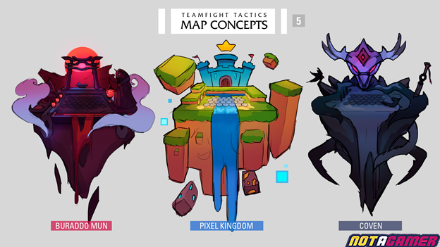 Teamfight Tactics: Game community designs a series of maps and Little Legends for Teamfight Tactics 4