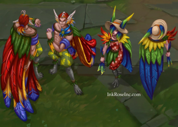 League of Legends: Rakan and Xayah are extremely charming in their Pool Party Skin 6