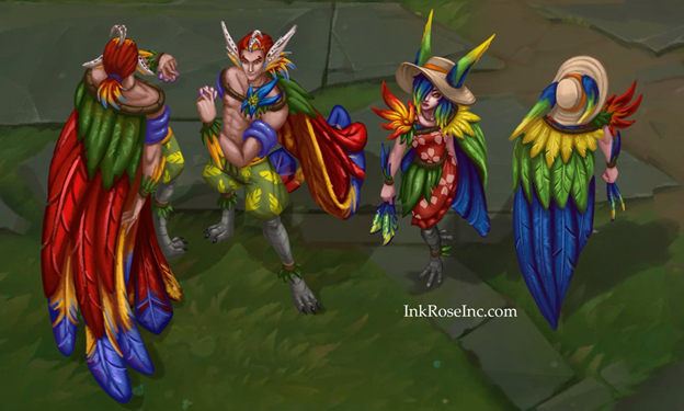 League of Legends: Rakan and Xayah are extremely charming in their Pool Party Skin 1