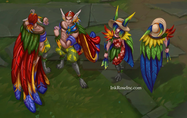 League of Legends: Rakan and Xayah are extremely charming in their Pool Party Skin 2