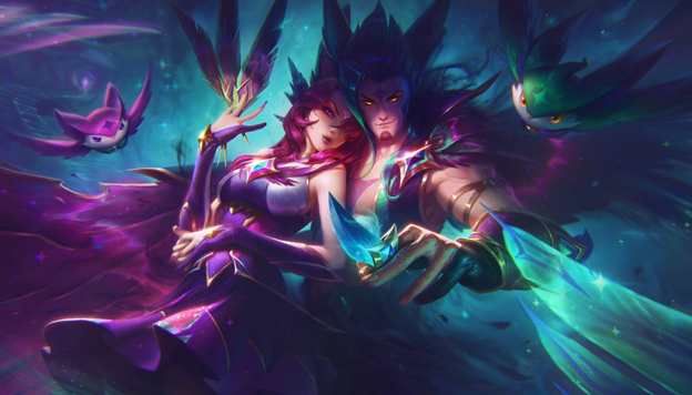 League of Legends: Rakan and Xayah are extremely charming in their Pool Party Skin 4