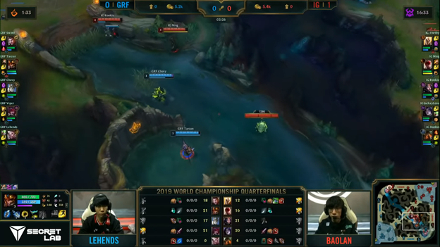 League of Legends: Invictus Gaming completely destroyed Griffin in the BO5 battle 4