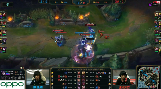 League of Legends: Invictus Gaming completely destroyed Griffin in the BO5 battle 6