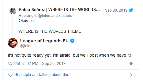 League of Legends: Where is the title song for Worlds 2019? 3