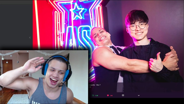 League of Legends: Tyler1 wants G2 Esports to lose 3 - 0 in the final for G2 fan insulting Faker and SKT 1