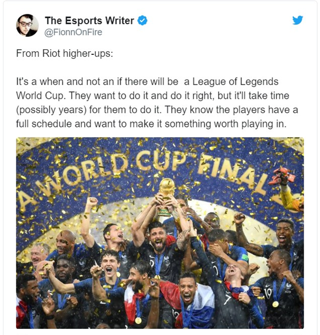 League of Legends: Riot Games will host the World Cup League of Legends 2