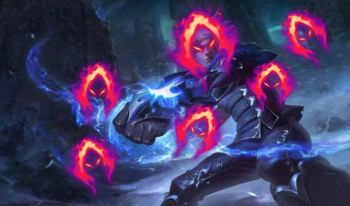 League of Legends: Ezreal can trigger Dark Harvest even when the enemy is full HP 1