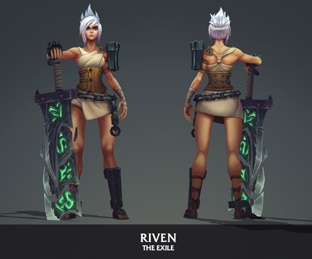 League of Legends: Players redesigned the Riven model in the game as beautifully as it was in the Awaken MV 3