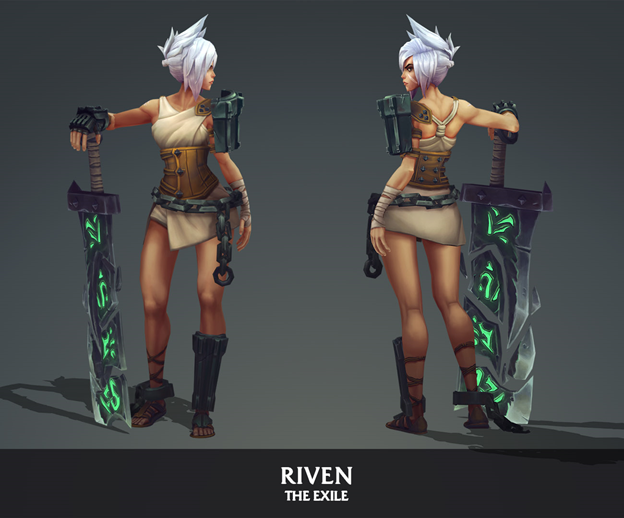 League of Legends: Players redesigned the Riven model in the game as beautifully as it was in the Awaken MV 4