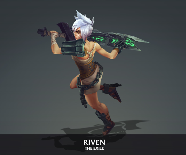 League of Legends: Players redesigned the Riven model in the game as beautifully as it was in the Awaken MV 5