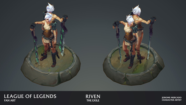 League of Legends: Players redesigned the Riven model in the game as beautifully as it was in the Awaken MV 6