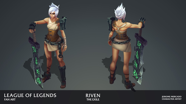 League of Legends: Players redesigned the Riven model in the game as beautifully as it was in the Awaken MV 7