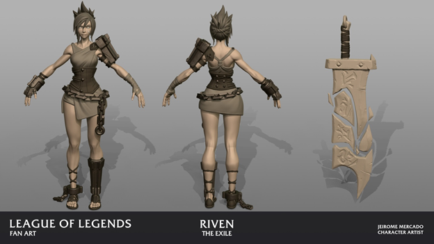 League of Legends: Players redesigned the Riven model in the game as beautifully as it was in the Awaken MV 10