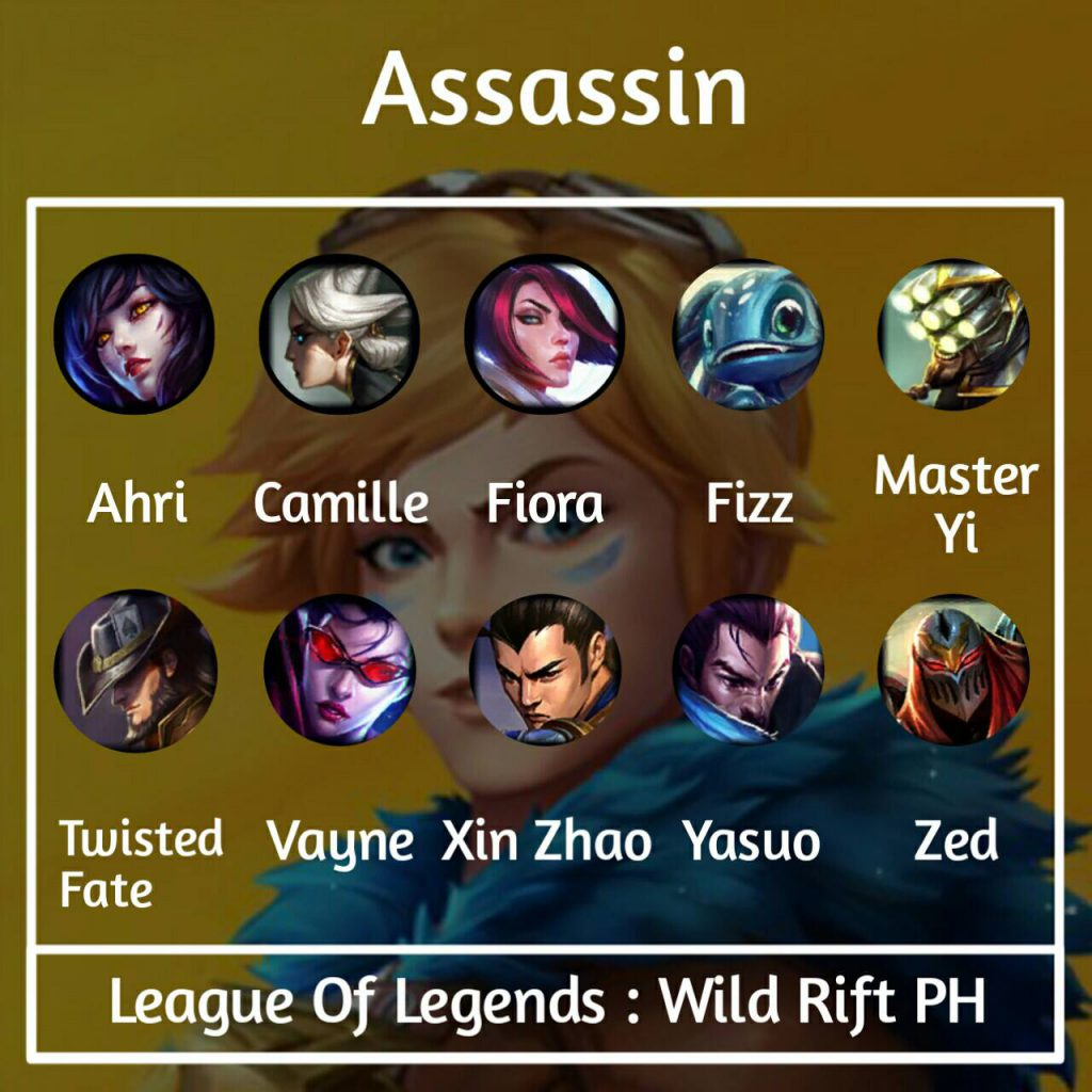 Wild Rift will be divided into six champions class LoL. 4