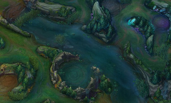 Did you know: In Summoner's Rift, a river is not a river, a forest is not a forest - river is basically two ponds 1