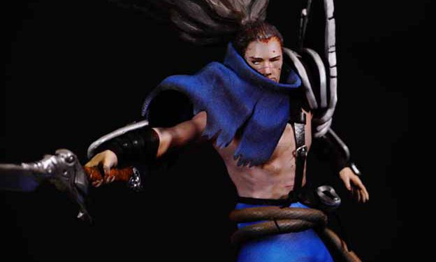 A player who hates Yasuo made a very beautiful Yasuo figure and smashed it 1