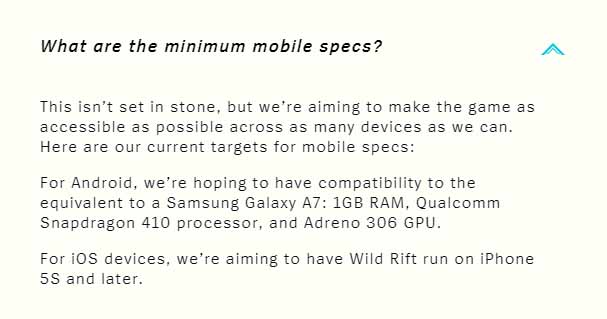 Wild Rift announced the testing time