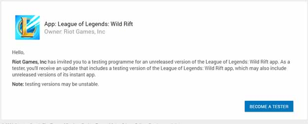 Wild Rift can be download