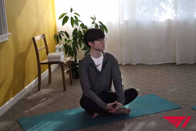 Faker teaches yoga