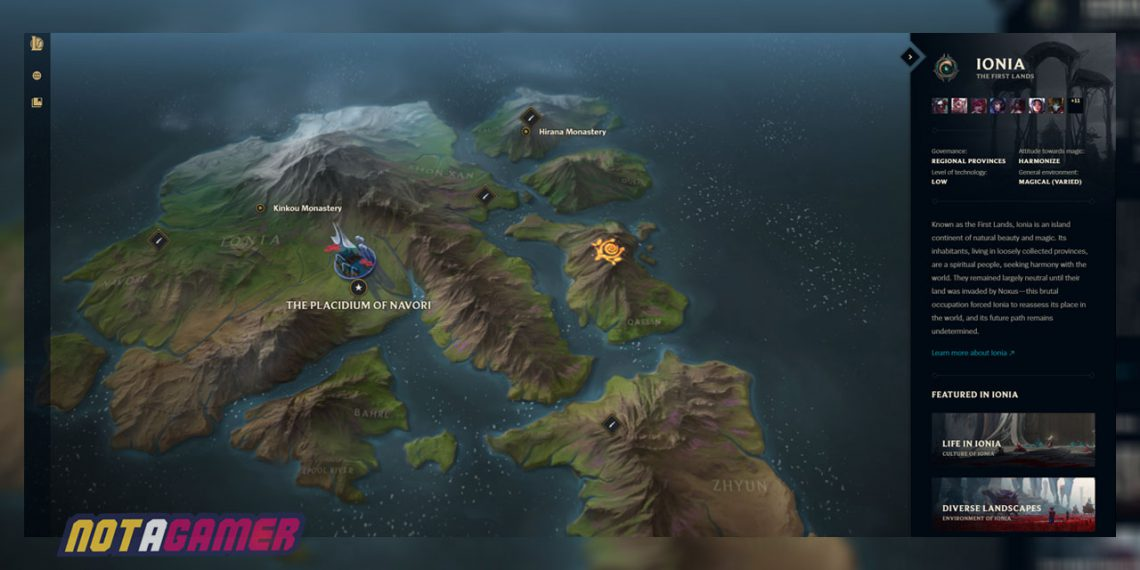 Runeterra MapThat Shows All The Factions And City-states | Why Bandle City Shifts Around On The Map? 1