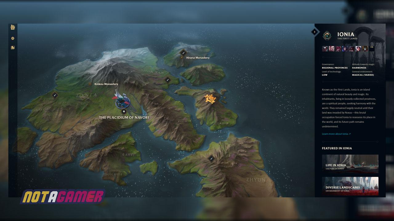 League Of Legends Valoran Map