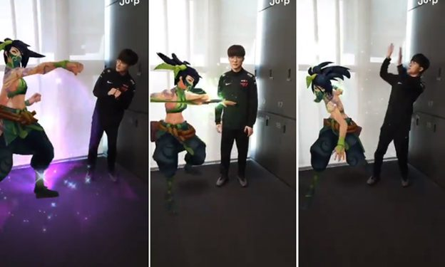 """Faker's Super Cute Expression When He Meets Akali in """"real-life"""": """"Faker's Acting Is Worth Silver Iv"""" - Action of Faker 1"""