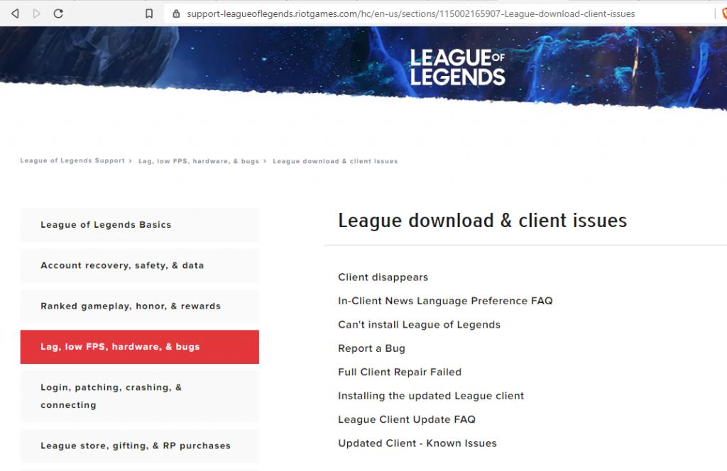 League Client