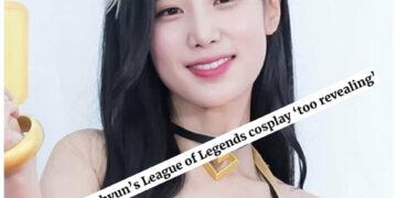 "Breaking ""News"": K-pop star cosplayed as Ahri, but people dislike it, because it was too ""revealing"" 2"
