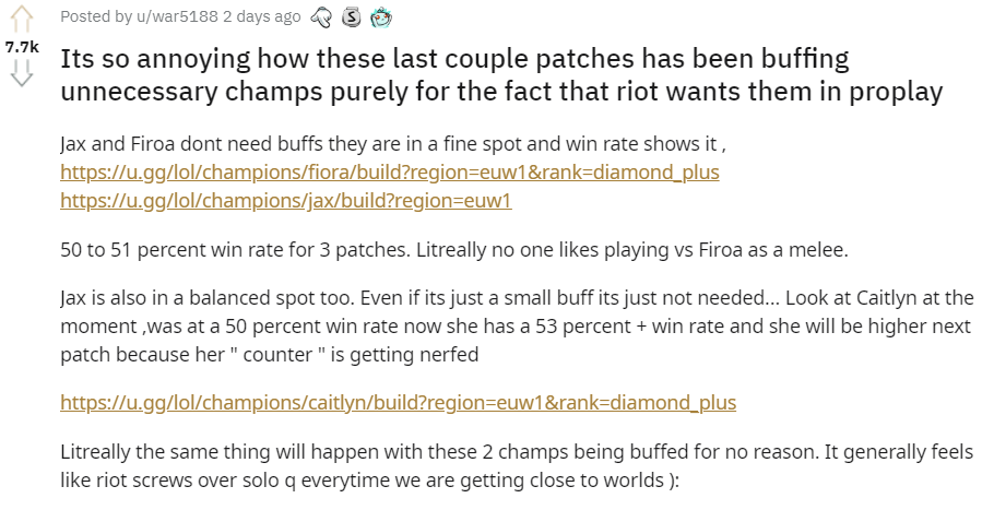 Riot Games is criticized for buffing unnecessary champions in patch 10.16 3