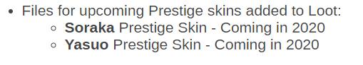 Prestige Skins
