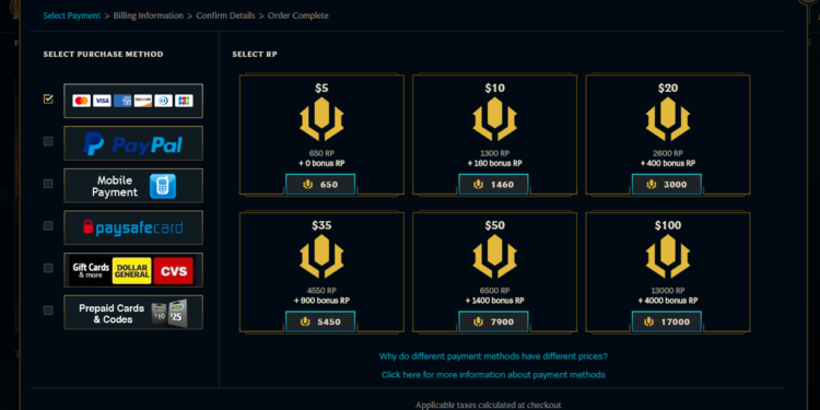 Riot's Announcement of Increasing RP Prices in Specific Regions 1