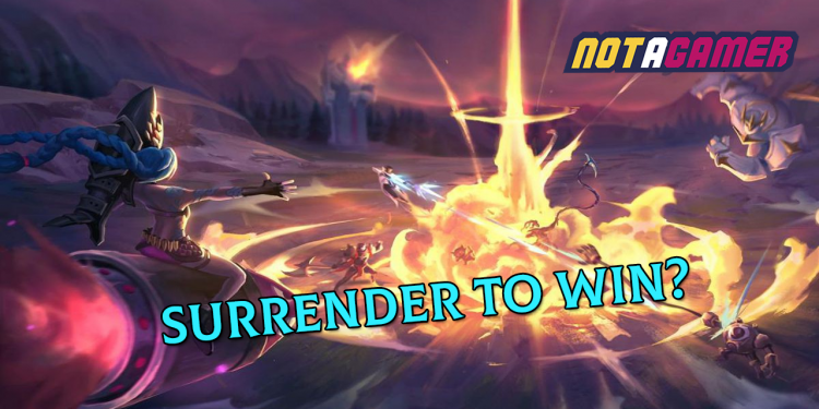 New LoL bug: Surrender to win! 1