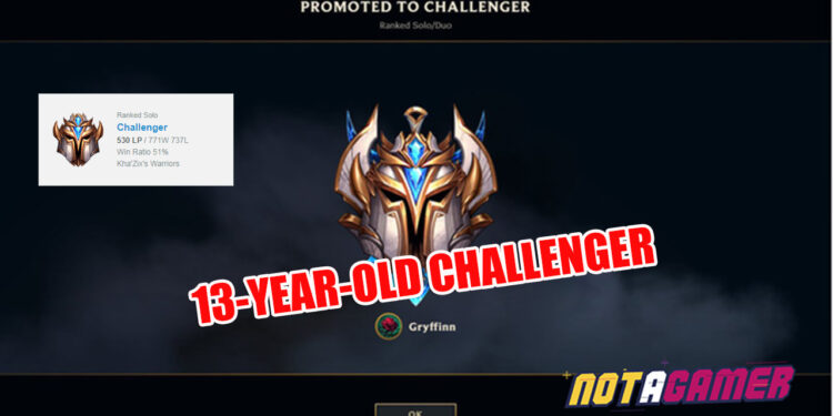 A 13-year-old player hit Challenger after 8 years playing League of Legends!!! 1
